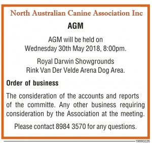 NACA AGM Notice NT News 2018.JPG.V1